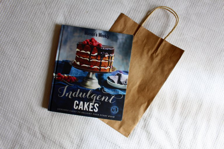 My first purchase was the Women's Weekly Indulgent Cakes recipe book. I can't lie; I put post-its on the recipes she needs to bake for me. Pretty sure I flagged every second page...